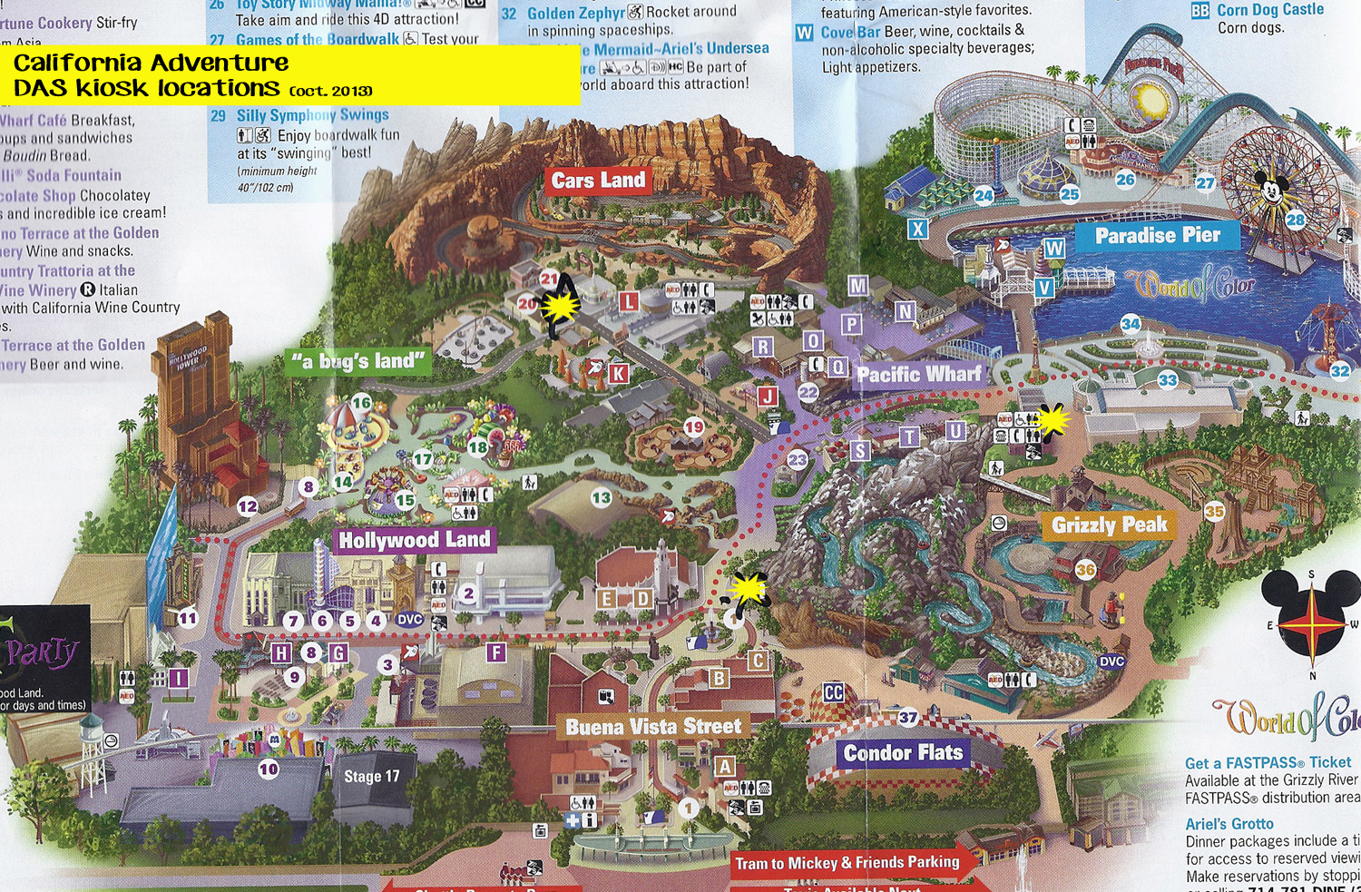 2015 Disneyland California Adventure Park Map | LZK Gallery