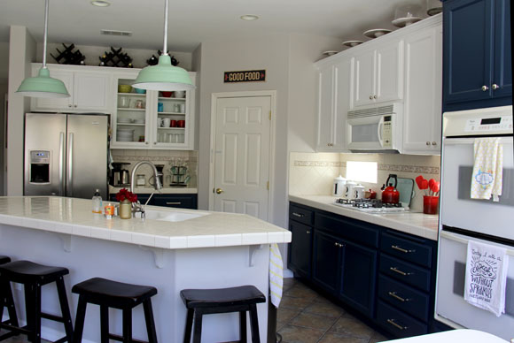 I Also Painted The Walls In The Kitchen The Same Pale Gray That Runs  Through The Rest Of The Main Living Rooms In Our Home (Burnished Clay By  Behr).